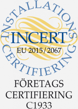 Certifierade enligt INCERTs företagscertifiering C1933.